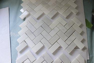 Partial cut tile square.