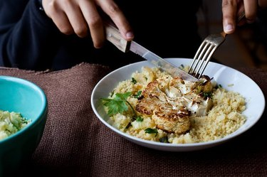 Cauliflower with couscous