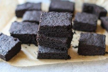 stack of gluten-free brownies