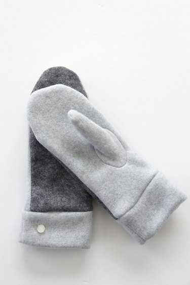 mittens with button embellishment