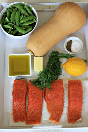 ingredients for salmon dish