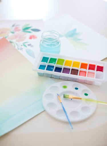 Homemade scented watercolor