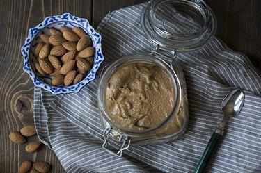 Homemade almond butter.