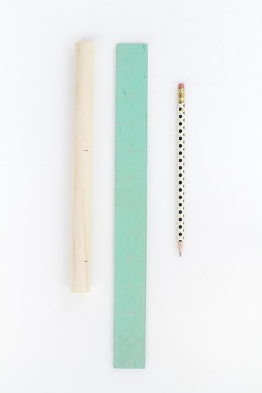 Measure and mark the 3/4-inch dowel rod handles