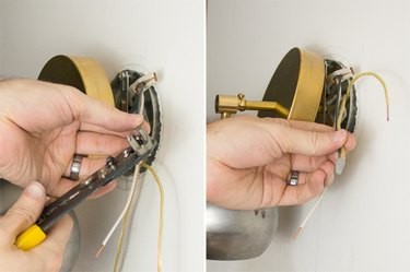 Wiring the sconce