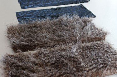 cut two faux fur and two lining pieces