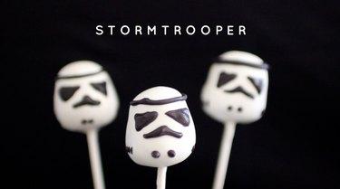Stormtrooper Cake Pops