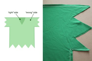 Sew the shirt together.