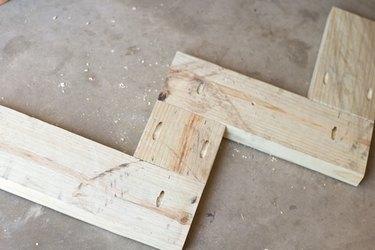 Wood base construction.