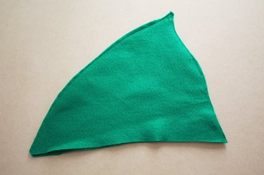 Sew the hat together, 1/8 inch from the edge.
