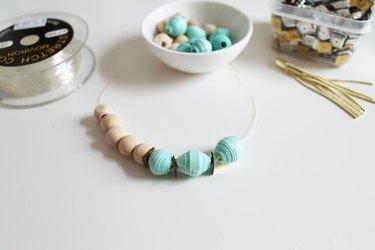 paper bead bracelet