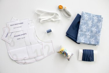 supplies needed for jogging shorts pattern