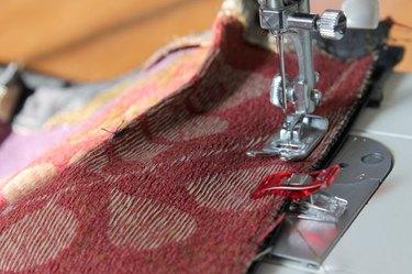 Sew a 1/2 inch seam.
