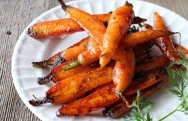 Garam Masala Glazed Baby Carrots