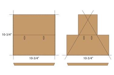 Cut the angles on the edge of the cedar plank.
