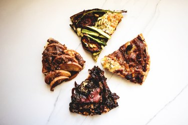 The Breakfast Pizzas are so easy to store and re-heat...but they are best eaten on the day of making!