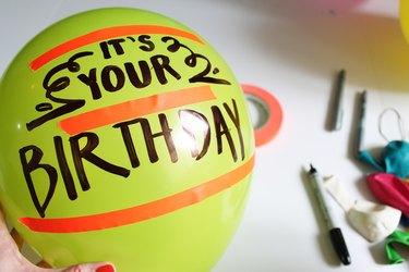 Write on a latex balloon