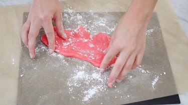 Kneading slime dough