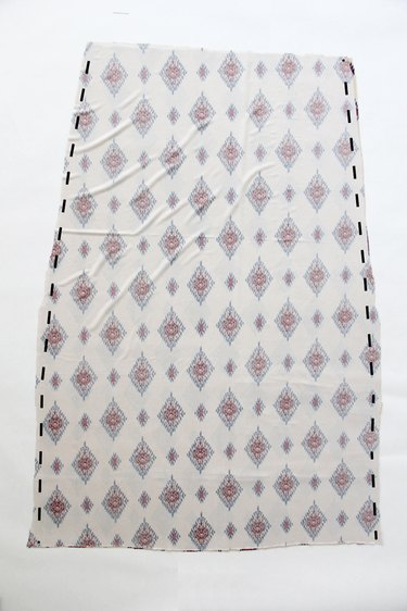 Sew front and back maxi skirt together