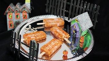 Beanie weenie popsicles on serving platter