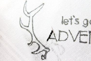running stitch on design