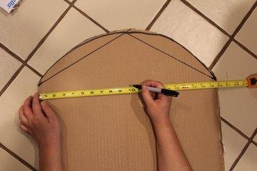 measuring cardboard tombstone size