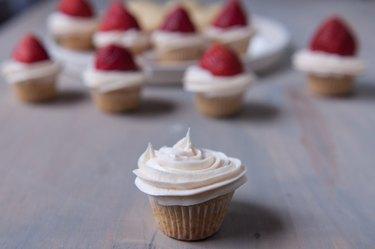 Santa Hat Strawberry Cupcakes Recipe