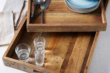 These reclaimed wood trays are functional and beautiful.