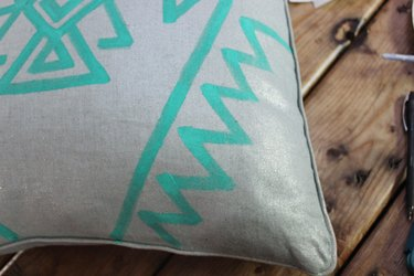 Continue pattern until zig-zag reaches the bottom of the pillow.