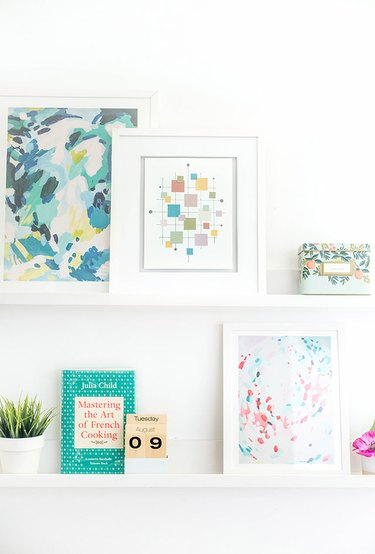 This retro-inspired DIY art work could cost nothing at all if you already have supplies on hand.