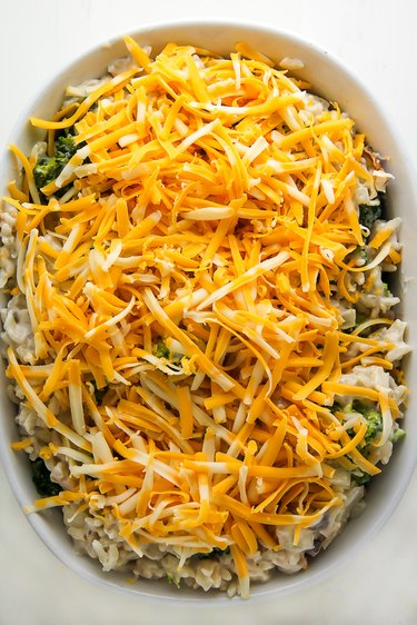 Cover with cheese and bake for 30 minutes,