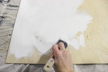 Painting plywood