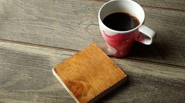 DIY easy coffee wood stain tutorial