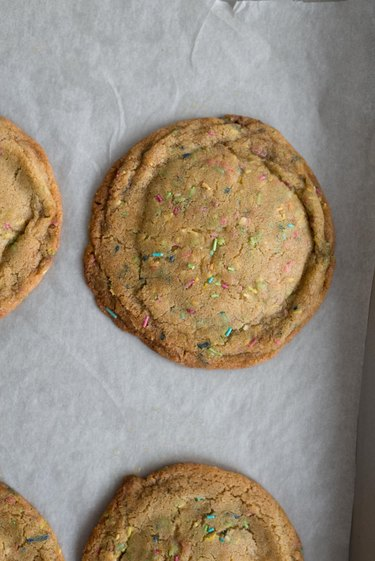 Bake until the cookies are golden brown and firm around the edges but still soft in the center.