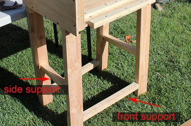 adding support beam to the legs