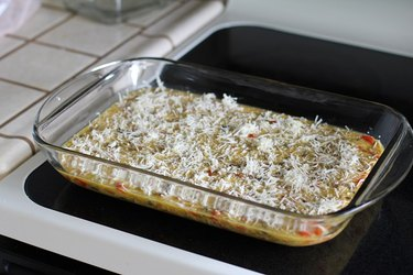 Casserole dish ready to go in the oven