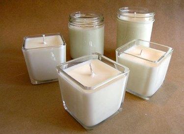 DIY candles.
