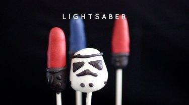 Lightsaber Cake Pops