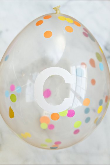 Balloon filled with confetti