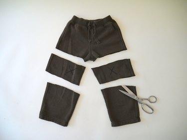pants cut into thirds