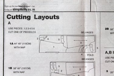 Example of a cutting layout.