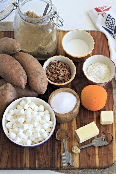 ingredients for sweet potatoe