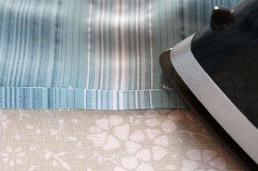 pressing under 1/4 inch at shirt bottom
