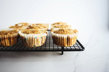 Transfer the golden brown muffins to a wire rack to cool completely.