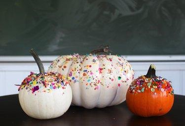three ways to decorate pumpkins