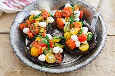 Caprese Stuffed Grilled Portobello Mushrooms