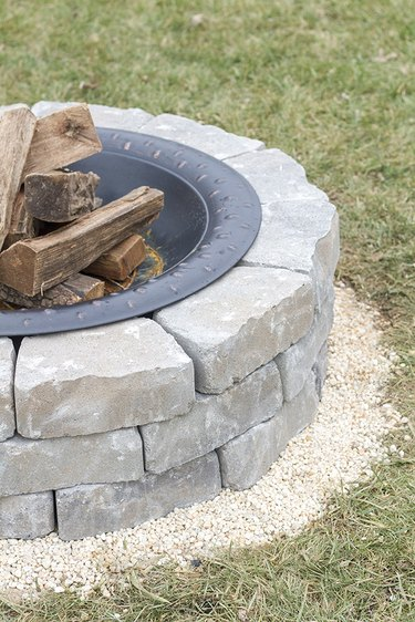 pea gravel fire pit