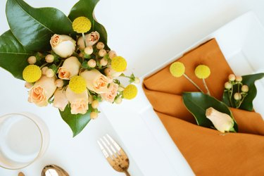 Peach, Camel, and Yellow for a Modern Fall Color Palette.