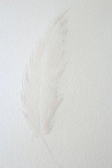 Paint feather with paint