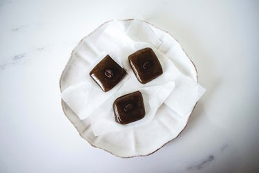 Homemade coffee caramels